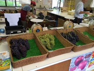 長野県はぶどうの美味しい産地。