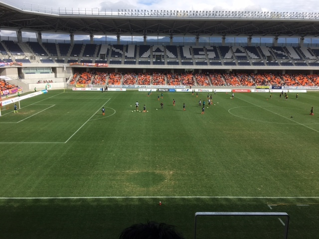 AC長野パルセイロレデイース試合。