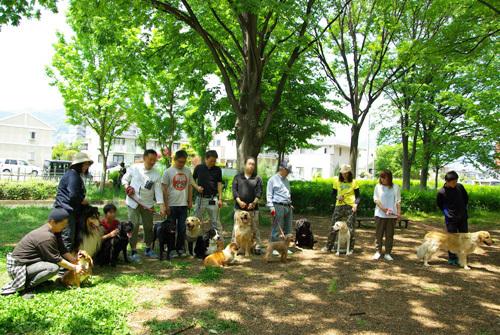 長野の合宿免許は看板犬がいます。