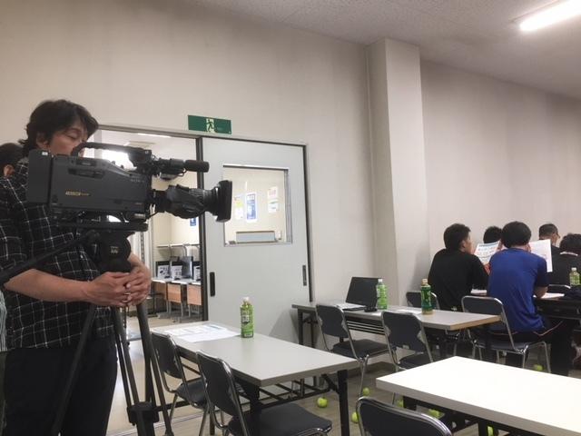ほめ達三級講習会にテレビ取材。