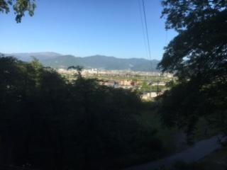 長野市西の山から合宿免許のゲストハウス方面。