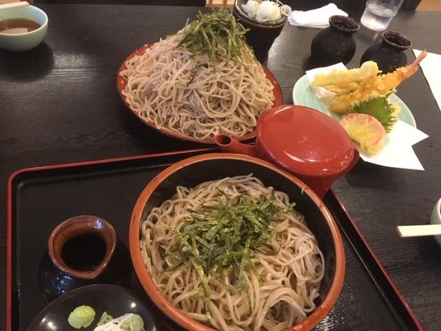 長野駅の大盛蕎麦。