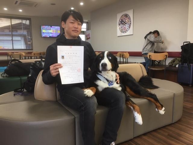 長野の合宿免許で卒業しました。