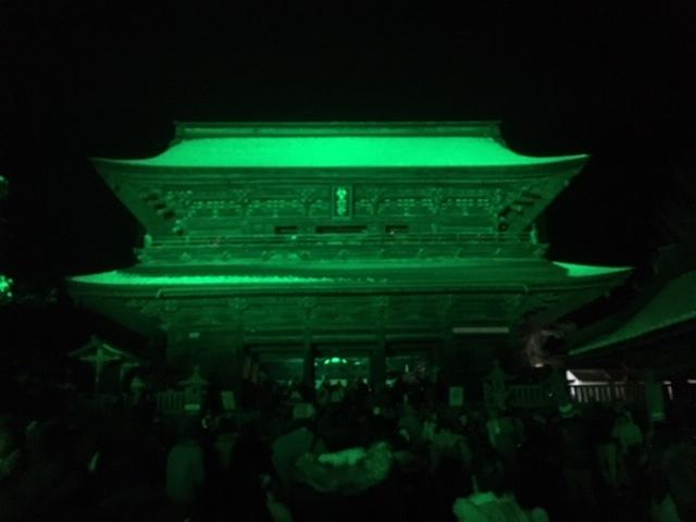 今年の善光寺灯明まつり。