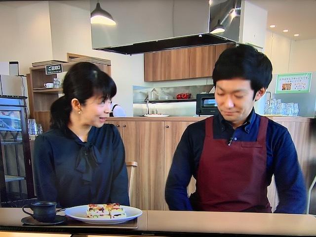 テレビ信州、美味しさへの旅、食ぱん道広徳店。