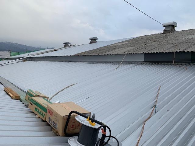 屋根進捗状況。